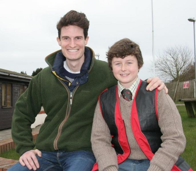 Rory Eastlake with Olympic Champion Peter Wilson